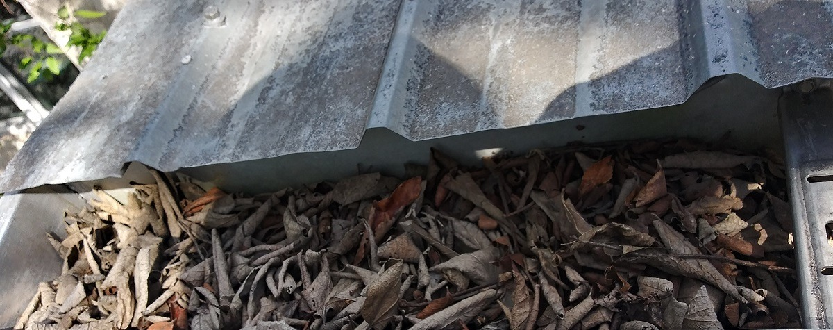 Gutter Cleaning - Leaves Clogging Gutter - Gutter Tex - Austin Texas