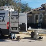 Gutter Installation - Gutter Tex - Cedar Park, TX - Install seamless gutters on large brick adobe house