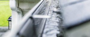 Seamless Rain Gutters During Rainfall - Gutter Cleaning Service - Gutter Tex